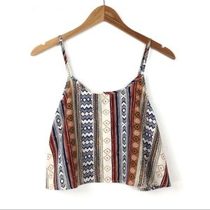 B Jewel | Aztec Crop Tank Top